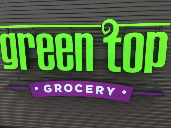 Green Top Grocery in Central IL  - channel letters example